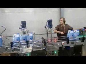 Línia de màquines d'ompliment de blanquejador líquid anti-corrosiu i netejador de vàter automàtic