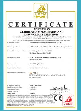 Certificat CE de la màquina de farciment