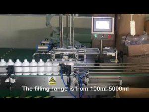 màquina automàtica per omplir ampolla de xampú servo de 2 broquetes