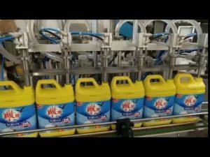 màquina automàtica per omplir ampolla de detergent per a la bugada, de 8 caps