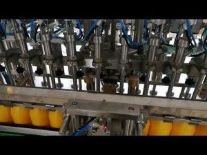 Màquina automàtica per omplir ampolles de 12 caps per a olis de salsa de cosmèt