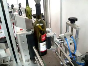 màquina etiquetadora automàtica d'ampolla doble lateral i rodona